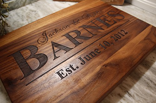 Personalized Christmas gift for MR or MRS Cutting Board! Wedding and Anniversary Gifts