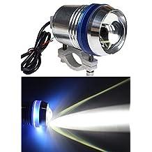 Wecade® 12V 30W Angel-eyes LED Spot Driving Light Bicycle Motorcycle Car Boat Headlight Travel Camp Lamp waterproof IP67 (Blue)