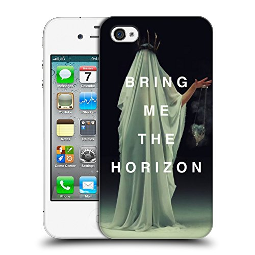 Official Bring Me The Horizon Cloaked White Key Art Hard Back Case for Apple iPhone 4 / 4S