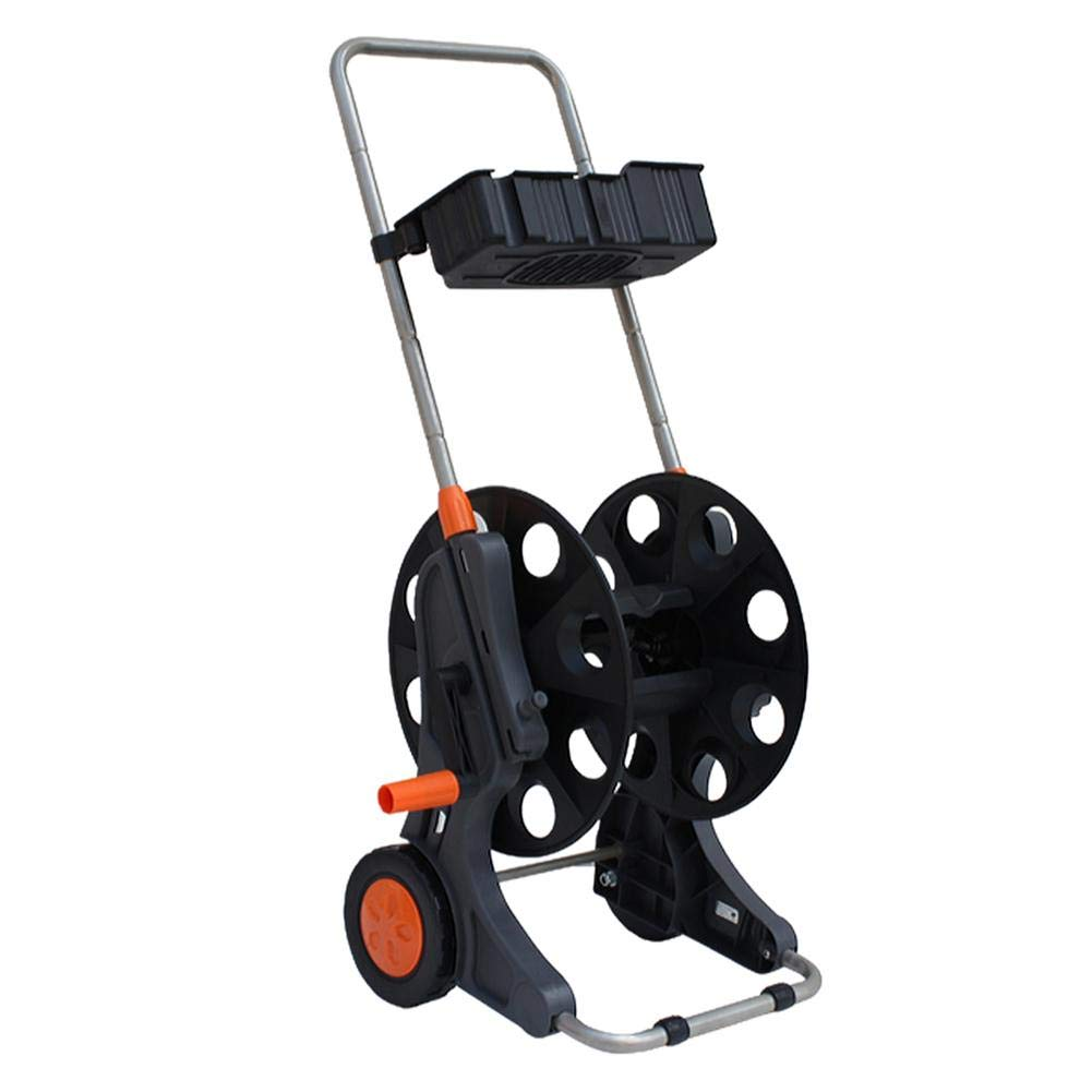 Garden Water Trolley, Multifunctional Garden Water Hose Pipe Reel Cart Holder Trolley Cart Within 50M(G1/2) for Watering Car Wash Tool by Pokerty