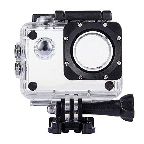TEKCAM Professional Waterproof Case Compatible with DBPOWER EX5000 Waterproof Action Camera 12MP / AKASO EK7000 EK5000 / ODRVM Full HD Sports Camera Housing Case Underwater Shell