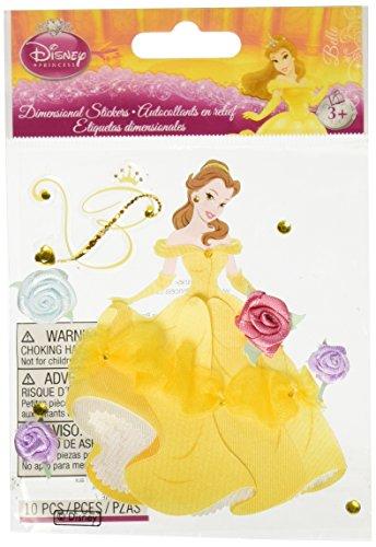 Sticko & Jolee's Disney Dimensional Sticker: (Disney Belle Sticker)