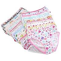 ESHOO Kids Baby Girls Cute Underwear Briefs Knickers 0-12 Years (6 Pack Randomly Sent)