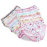 Timall Little Girls' Briefs Cute Cotton Underwear 6 Pack Panties 0-12 Years