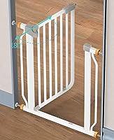 Huo Barrera de Seguridad Metálicas para Bebés Extra Altas para Escaleras Escaleras, Montaje A Presión Puerta para Mascotas Gato/Perro: Amazon.es: Hogar