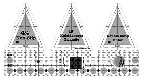 - Creative Grids 45 Degree Kaleidoscope Double Strip Quilting Ruler Template CGRDBSKL