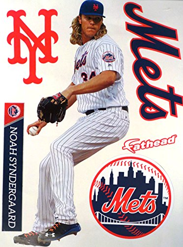FATHEAD Noah Syndergaard New York Mets Logo Set Official MLB Vinyl Wall Graphics 17