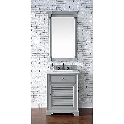 "James Martin Furniture 238-104-V26-UGR-3SNW Savannah Collection 26"" Single Vanity, Choose Finish: Snow White Quartz, Vanity Top Thickness: 3CM Vanity Top Thickness"
