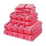 Laura Secret Bale Towel Set, Cotton, Red by Laura Secret