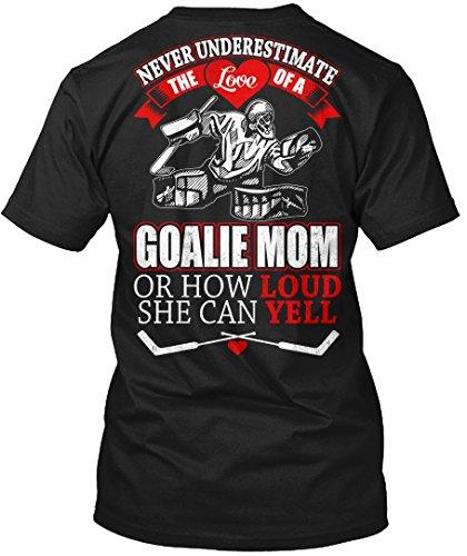 Vitome Hockey Hockey T-Shirt Never Underestimate The Love Of A Goalie Mom Hockey T-Shirt For Mens