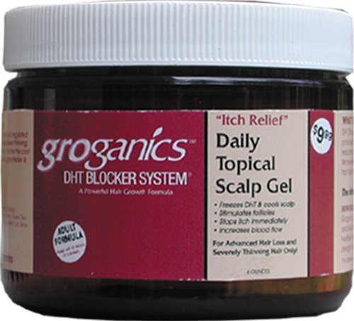 Groganics Itch Relief Daily topical Scalp Gel, 6 oz