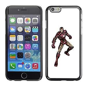 SoulCase / Apple Iphone 6 / Iron Superhero Watercolor / Slim Black Plastic Case Cover Shell Armor