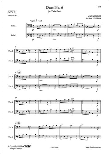 PARTITURA CLASICA - Duet No. 6 - ANONYMOUS - Tuba Duet: Anonyme ...