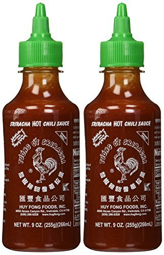 Huy Fong, Sriracha Hot Chili Sauce, 9 Ounce Bottle (2 Pack) by Sriracha