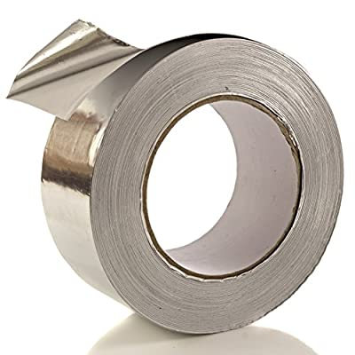 Aluminum Tape/Aluminum Foil Tape - Professional/Contractor-Grade - 1.9 inch x 150 feet (3.4 mil) - Perfect for HVAC, Duct, Pipe, Insulation and More - By Impresa Products