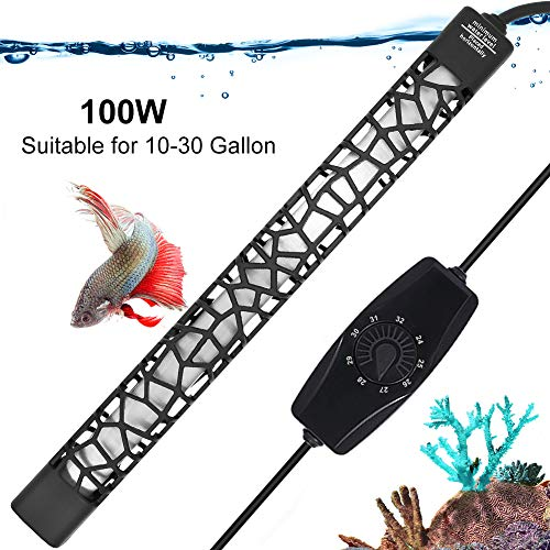 UPETTOOLS Submersible Aquarium Heater, Aquarium Fish Tank Water Thermostat, Adjustable for 3~120 Gallon with Temperature Controller 50W/100W/300W/500W.