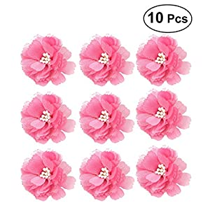 BESTOYARD 10pcs Bride Bridesmaid Bust Flower Handmade Corsage Artificial Flower Ornaments for Wedding Party Prom(Red) 53