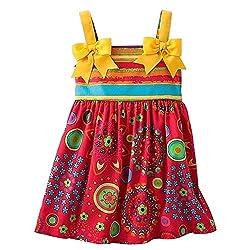 JESSICA ANN Girl's Size 3T Striped Floral Ribbon Dress Sundress