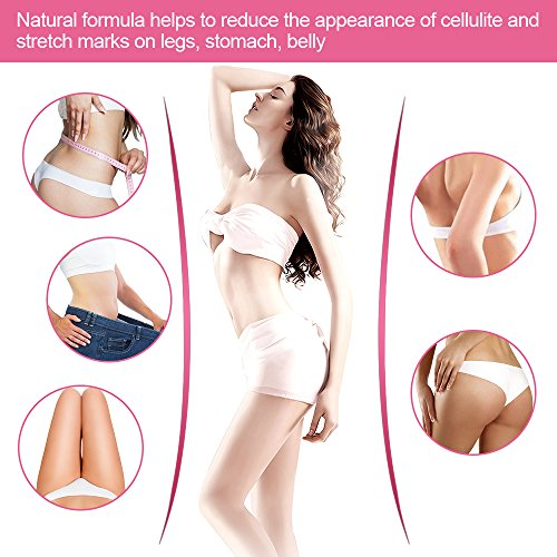 SAISZE Anti Cellulite Body Slimming Cream, Hot Cream Treatment & Weight Loss,Belly Fat Burner for Women and Men (Cellulite Cream + Massager) 3