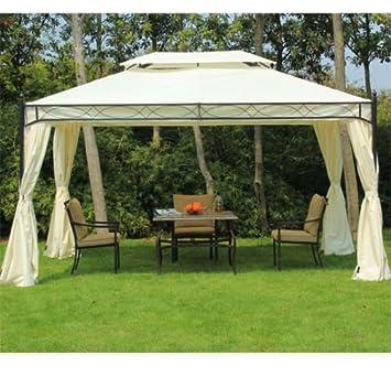 carpa 3x4m pabellon cenador de jardin blanca con cortinas - Cenador De Jardin