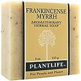 Frankincense Myrrh 100% Pure & Natural Aromatherapy Herbal Soap- 4 oz (113g)