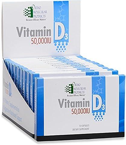 Ortho Molecular - Vitamin D3 50,000 IU - 15 Capsule Blister Pack (Vitamin D3 Ortho Molecular)