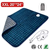 Veken Electric Heating Pad with Fast-Heating Technology, Moist Dry Heat, Auto-Off and Machine