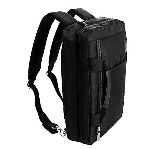 Crossover Messenger Bag Backpack for Acer Aspire 16 Laptop schwarz