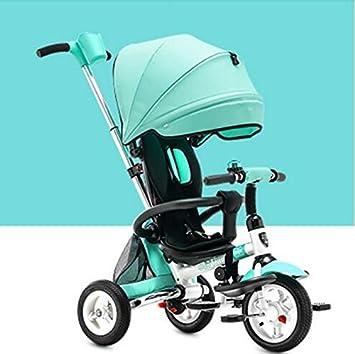 DACHUI niños plegable triciclo, bicicleta, carrito de bebé inflables, baby bike, baby carriage (Color : Verde): Amazon.es: Deportes y aire libre