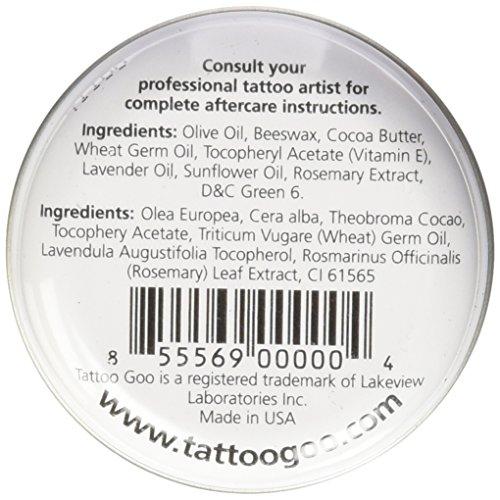 Tattoo goo the original aftercare salve 3 4 ounce tin for Tattoo goo review