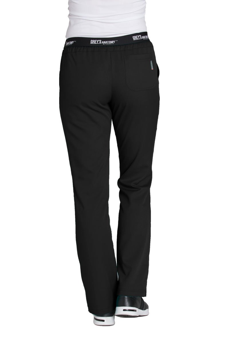 Grey's Anatomy Active 4275 Drawstring Scrub Pant Black S by Barco (Image #2)
