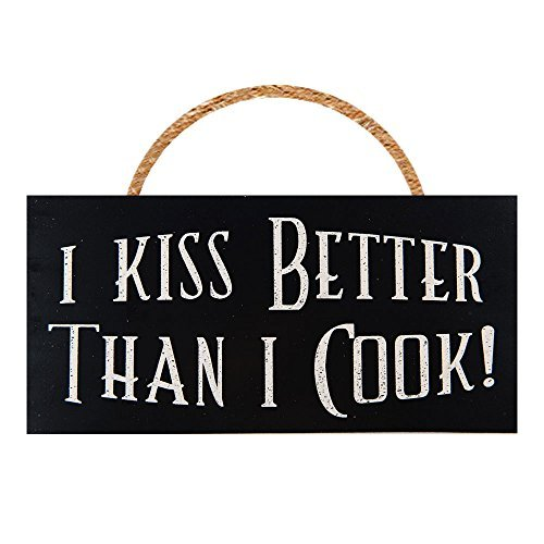 kiss the cook wooden sign - 5
