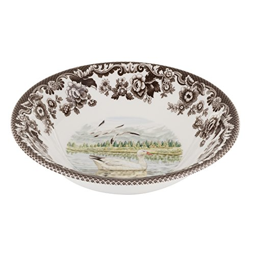 (Spode 1597167 Woodland Snow Goose Ascot Cereal Bowl )