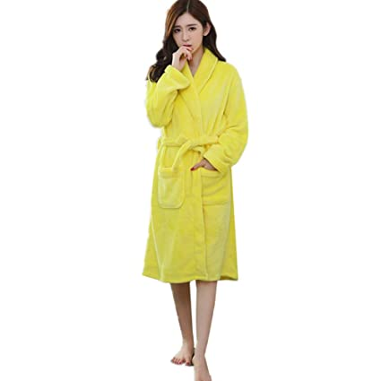4f659ab043 Image Unavailable. Image not available for. Color  KKING Women s Long  Fleece Robe Plush Winter Dressing Gown Plus Size Warm Pjs