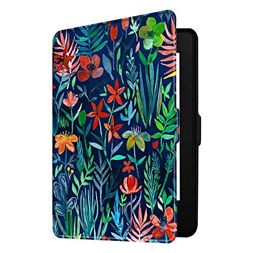 Fintie Slimshell Case for Kindle Paperwhite - Fits All Paperwhite Generations Prior to 2018 (Not Fit All-New Paperwhite 10th Gen), Jungle Night (Print Kindle Case)
