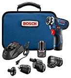 Bosch Power Tools Combo Kit - GSR12V-140FCB22 - 12V Flexiclick 5-In-1 Multi-Head Drill Set - One Tool Multiple Jobs