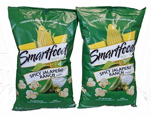 Smartfood Popcorn Spicey Jalapeno Ranch Flavor 2 - 7.5oz Bags by Smartfood
