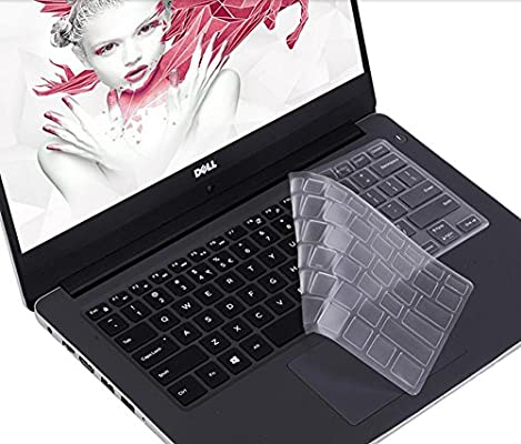 """imComor for Dell XPS 15 Keyboard Cover Ultra Thin Clear Soft-Touch Keyboard Skin for 2019 Release DELL XPS 15 7590 9570 & 2017 Release DELL XPS 15 9560 9550 15.6\"""" Laptop(NOT Fit XPS 15 9575)"""