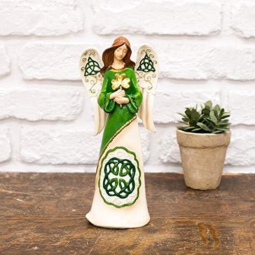 Amazon.com: Ángel irlandés con champa verde 9 x 4 piedra de ...