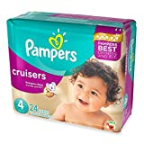 Soft, Stretchy Sides, Jumbo Pack Size 4 Disposable Diapers, (24-Count)