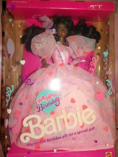 Mattel Happy Birthday Barbie African American - #9561 - 1990