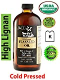 Certified Organic Pure & Top Quality plastic Bottle Cold Pressed Flax Seed Oil- No preservatives & Artificial color- SweetSunnah