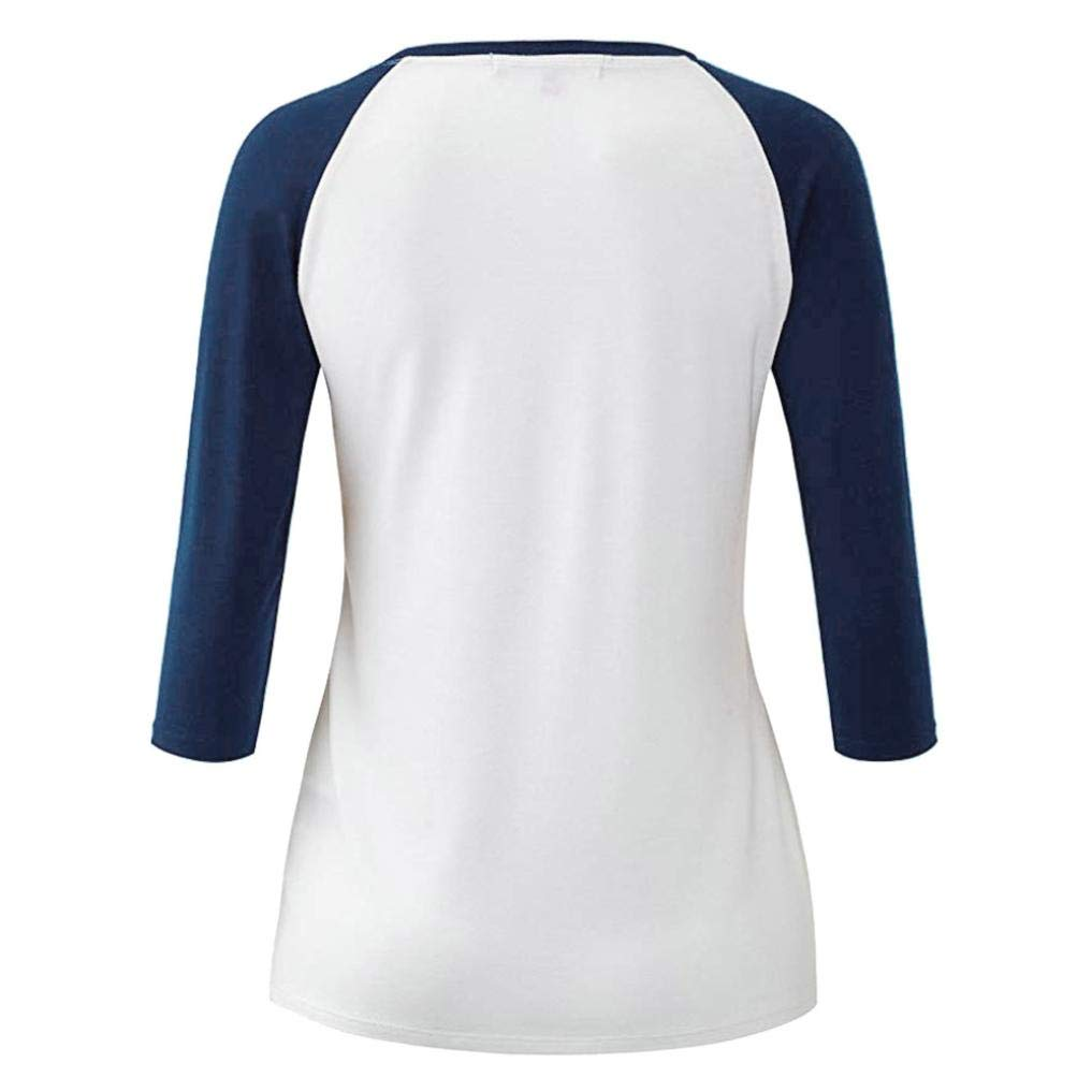 ❤️ Blusa de Mujer otoño Leotardo Blusa Camisetas de béisbol ...