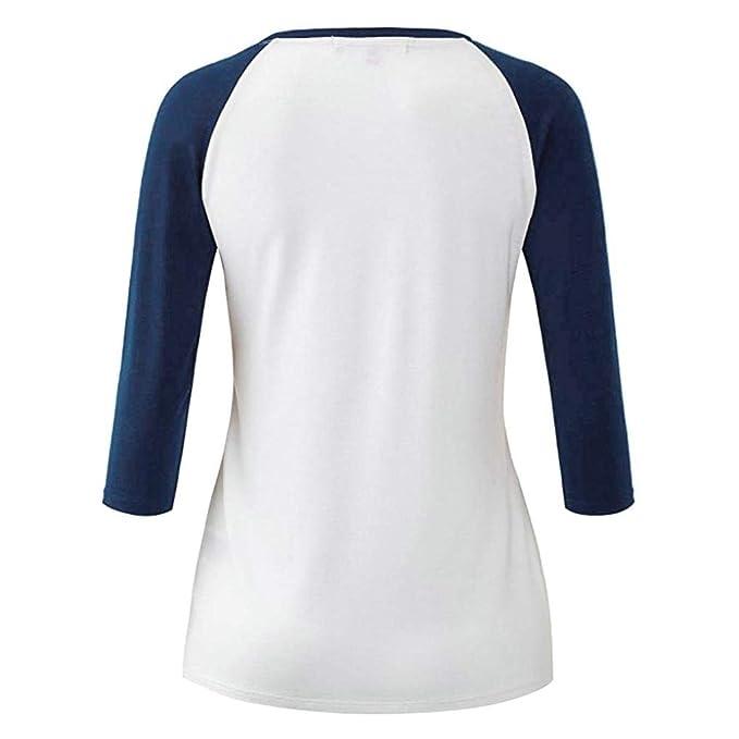 ❤ Blusa de Mujer otoño Leotardo Blusa Camisetas de béisbol Empalme Patchwork Manga Absolute: Amazon.es: Ropa y accesorios