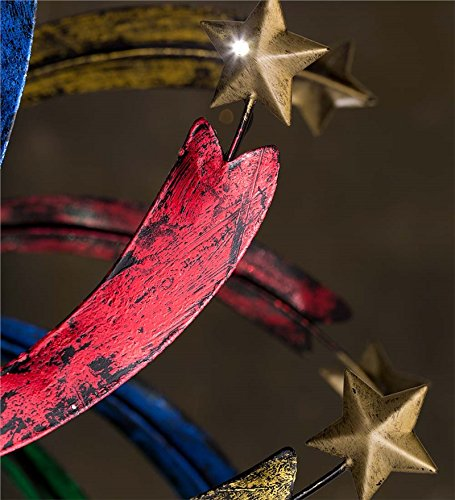 Solar Shooting Star Metal Wind Spinner by Wind & Weather