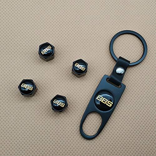 Keychain FidgetFidget Car Wheel Tire Valves Dust Stem Black BBS Logo Air Cap