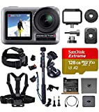 DJI OSMO Action Ultimate Bundle - Dual Touch Display Waterproof Digital Action Camera with 4K HD Video 12MP Photos Live...