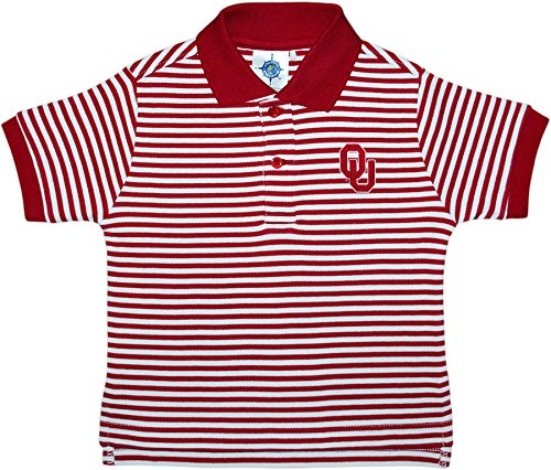 Creative Knitwear University of Oklahoma Sooners Striped Polo Shirt ()