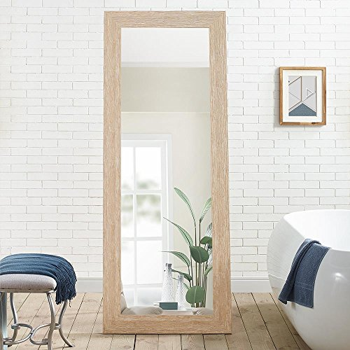 Naomi Home Freestanding Cheval Floor Mirror Natural ()