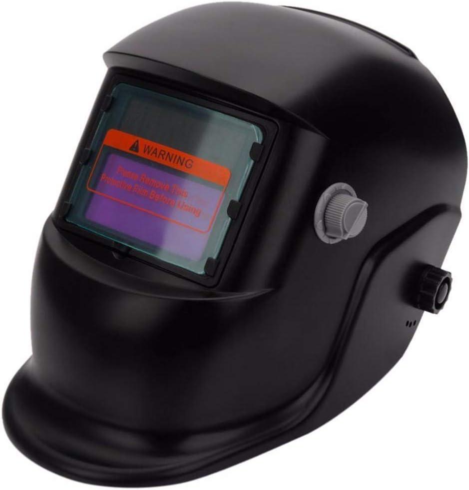 QWERTOUR Negro Solar oscurecimiento automático de Soldadura eléctrica Casco de Gafas con Lentes de Soldador de Soldadura para soldar Máquina de protección